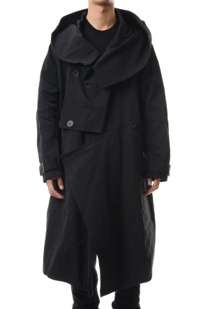 JULIUS 19-20AW DIVIDED HOODED COAT Black