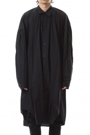 NILøS 19-20AW GATHER LONG SHIRT Black