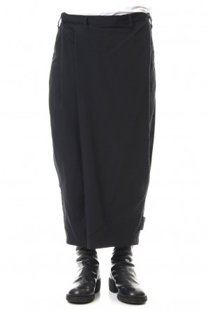 JULIUS 20PS FOLDED BAGGY TROUSERS Black