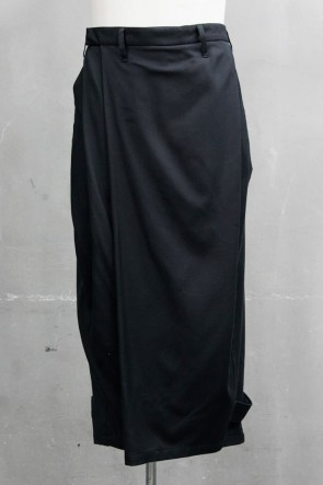 JULIUS20PSFOLDED BAGGY TROUSERS Black