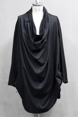 JULIUS 20PS DRAPE NECK SHIRT Black