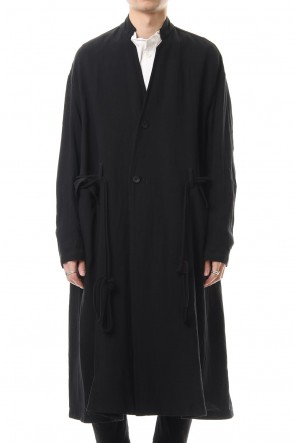 JULIUS 20SS Long jacket Black