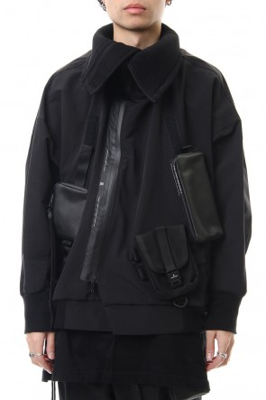 NILøS 20SS High-neck blouson Black