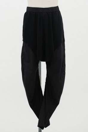 JULIUS 20PF CURVED LEG SKIRT PANTS