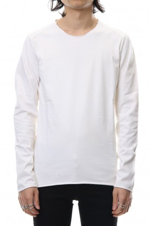 wjk 18-19AW Hard jersey cut & sewn - White