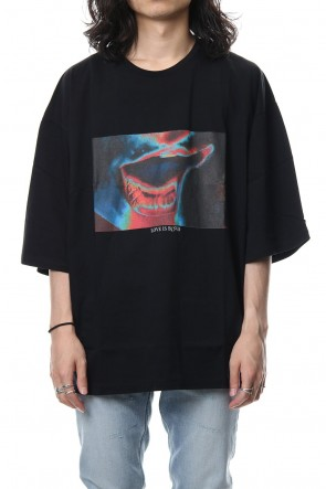 GalaabenD 18-19AW 30/1 Silkete Jersey Print Big Tee