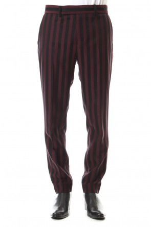 GalaabenD 19-20AW Jacquard stripe stretch slacks