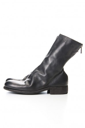 Guidi 19-20AW Middle Back Zip Boots Single Sole - Horse Full Grain Leather - 988