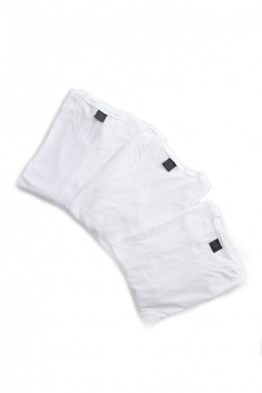 wjk18-19AW3in Pack Tee - White