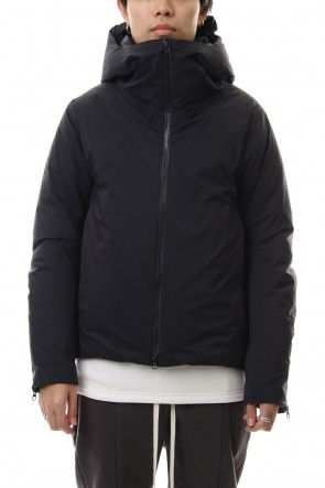 ATTACHMENT 19-20AW Breathable waterproof 3 layer hooded down blouson Black