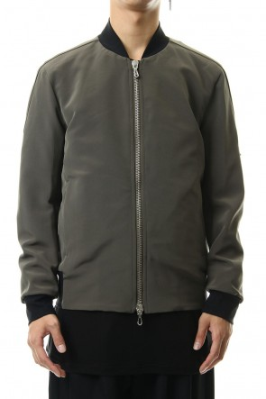 ATTACHMENT 19-20AW Ta/Pe Double face MA-1 jacket D-KhakiGray