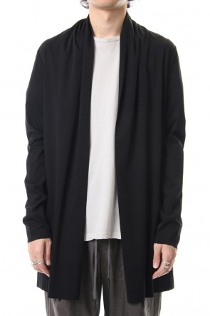 ATTACHMENT 19PF 100/1 high gauge smooth long stall cardigan Black