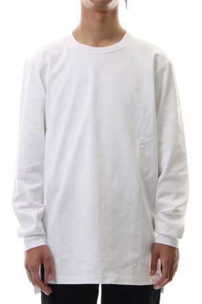 ATTACHMENT 19-20AW Giza shirky jersey crew neck L/S cut&sewn White