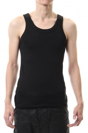 ATTACHMENT 20SS Silky Bio fraise tank top Black