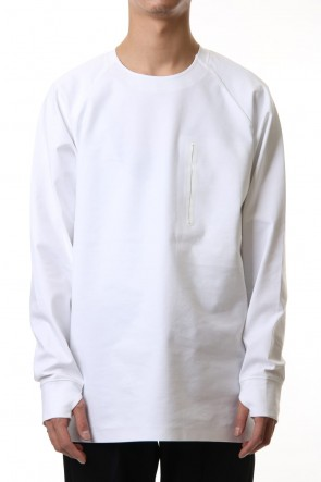 ATTACHMENT 20SS Fabio punch crew neck L/S White