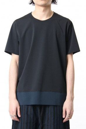 ATTACHMENT 19SS Matt Stretch Jersey Crew Neck S/S T-shirt Black
