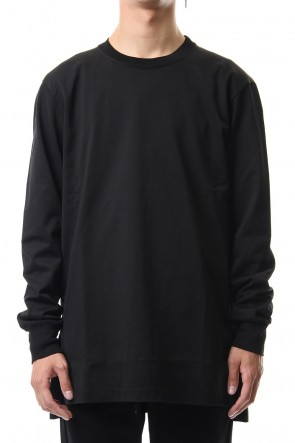 ATTACHMENT 19-20AW Giza shirky jersey crew neck L/S cut&sewn Black