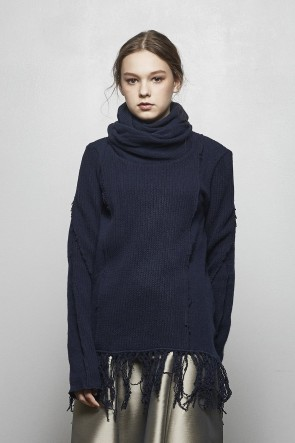 AF ARTEFACT 18-19AW Rib Twist High Neck - AL-1670