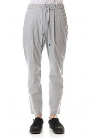 ATTACHMENT 20SS C / Ny / Li high power stretch weather 1 Tuck wide easy pants Gray