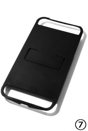 iPhone7 Case FLAP BKM - Black Matte