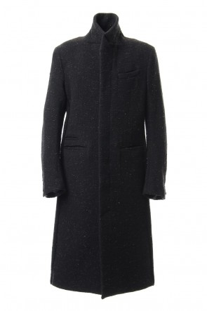 individual sentiments 19-20AW Chesterfield Coat Wool Angora Tweed - CO27-HW16