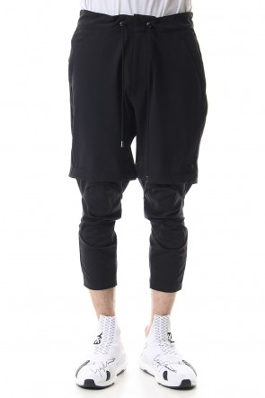 CIVILIZED 19SS 3/4 SURVIVAL LAYERED PANTS Black - CS-1815