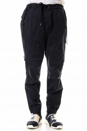 CIVILIZED 19-20AW INVISIBLE CARGO PANTS - BLACK
