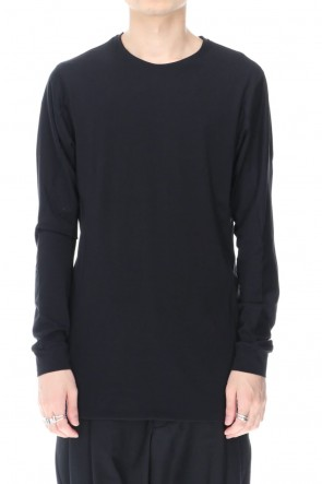 DEVOA 20-21AW Long sleave indian cotton jersey ( SUVIN )  Black