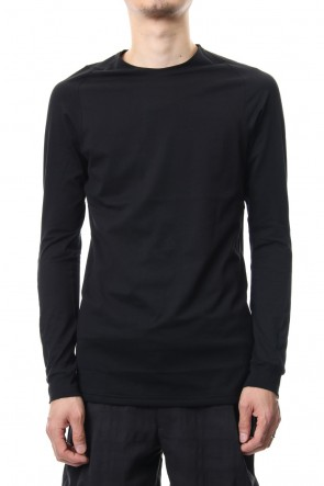 DEVOA 19SS Long sleeve Indian cotton jersey ( SUVIN ) - Black