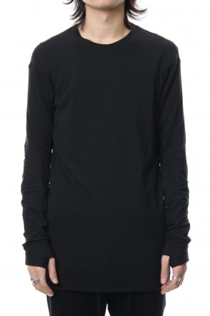 DEVOA 19SS Long sleeve cotton stretch jersey - Black