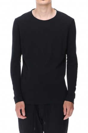 DEVOA 20-21AW Long sleeve soft jersey Black