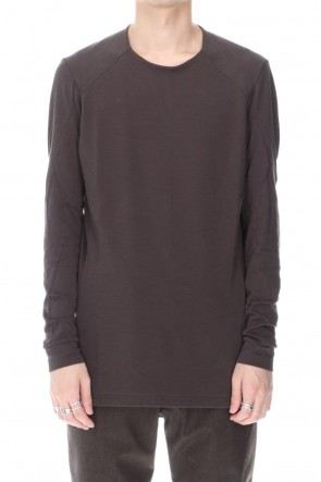 DEVOA 20-21AW Long sleeve soft jersey Brown Gray