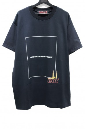 CAVIALE 20-21AW TEE WITH BACK APPLIQUE