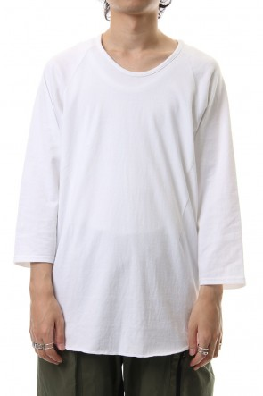 CIVILIZED 19-20AW U NECK 3/4 SLEEVE White