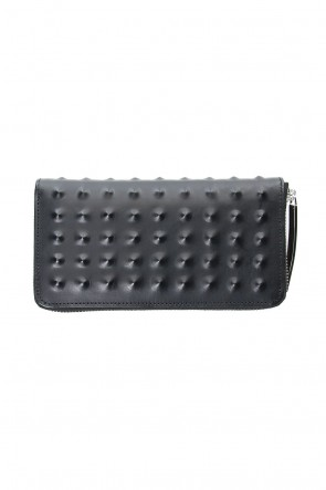 MIHARAYASUHIRO Classic Studs Invisible Long Wallet Black