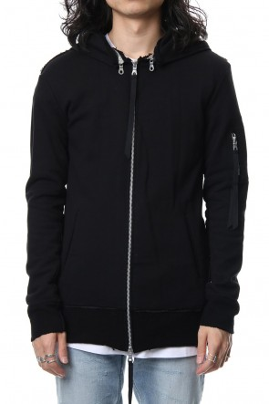ASKyy 18-19AW Removable hoodie blouson - Black