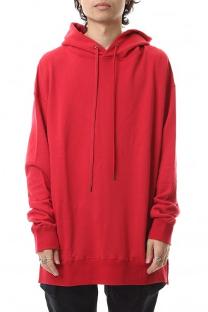 DIET BUTCHER SLIM SKIN 19-20AW Hoody big long sweats Ruby Red