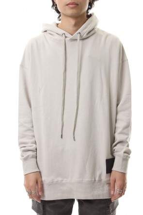DIET BUTCHER SLIM SKIN 19-20AW Hoody big long sweats White Gray