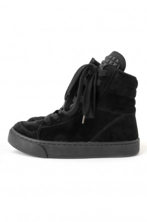 DIET BUTCHER SLIM SKIN16-17AWDIET BUTCHER SLIM SKIN [DBSS] 16AW Twisted Sneakers BLACK SUEDE