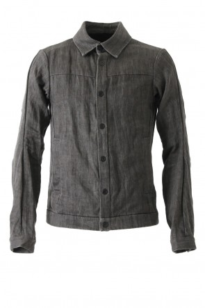 Jacket Linen Denim Charcoal Dyed