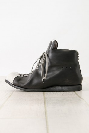 DEVOA 16SS Back Zip Combat Shoes calf leather