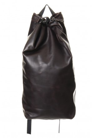 DEVOA 20SS Backpack Guidi Calf Leather - Deep Red