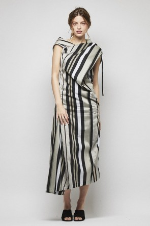 divka 18SS Bonotto transparent stripe dress - DK13-07-D02