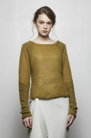 divka18-19AWKid Mohair  Collage Knit DK14-K01-T02 Olive