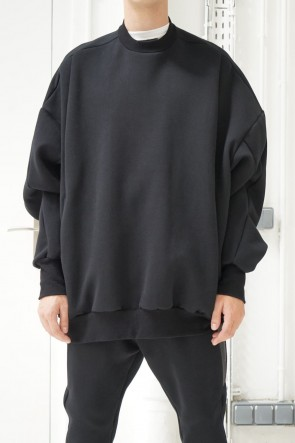 NILøS 19SS BACK ZIP PULLOVER JACKET Black