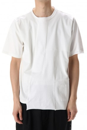 DUELLUM 20-21AW Patchwork Back Seamed T-Shirts White