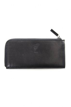 Discord Yohji Yamamoto 18-19AW Antique leather compact long wallet - DV-A08-703