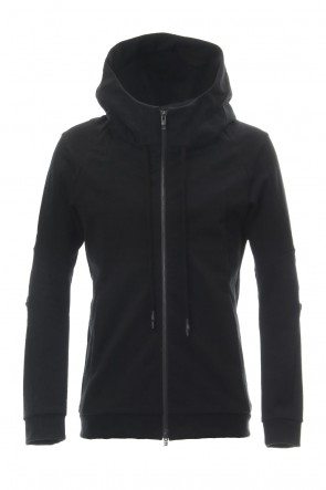 DEVOA 19SS Hooded Jacket Cotton Jersey - Black