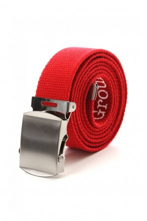 Ground Y 19-20AW GI belt with logo Red