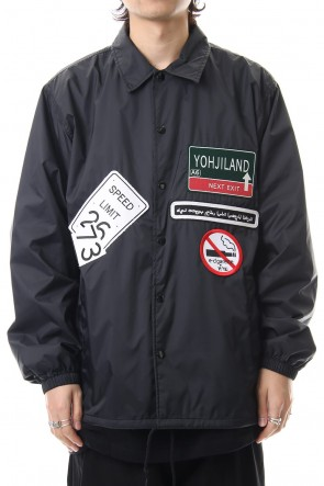 Ground Y19-20AWWappen embroidery Coach jacket